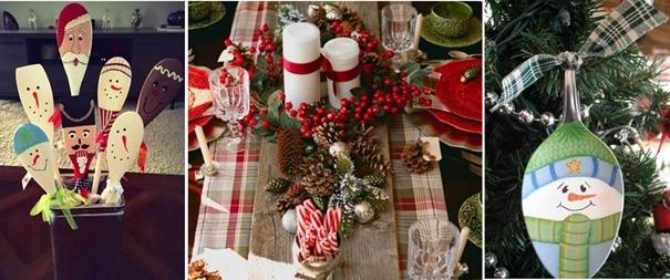 Коледна украса от шпатули и лъжици